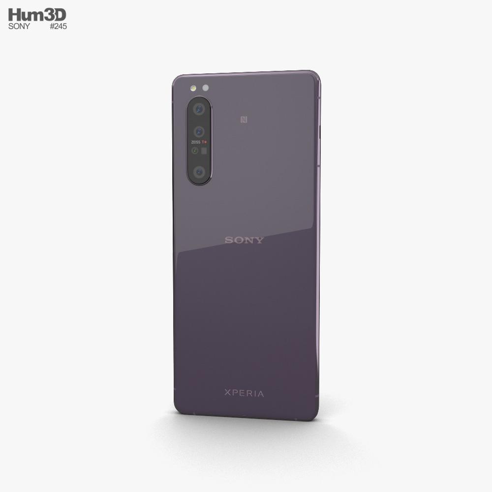 Sony Xperia 1 II Purple 3d model