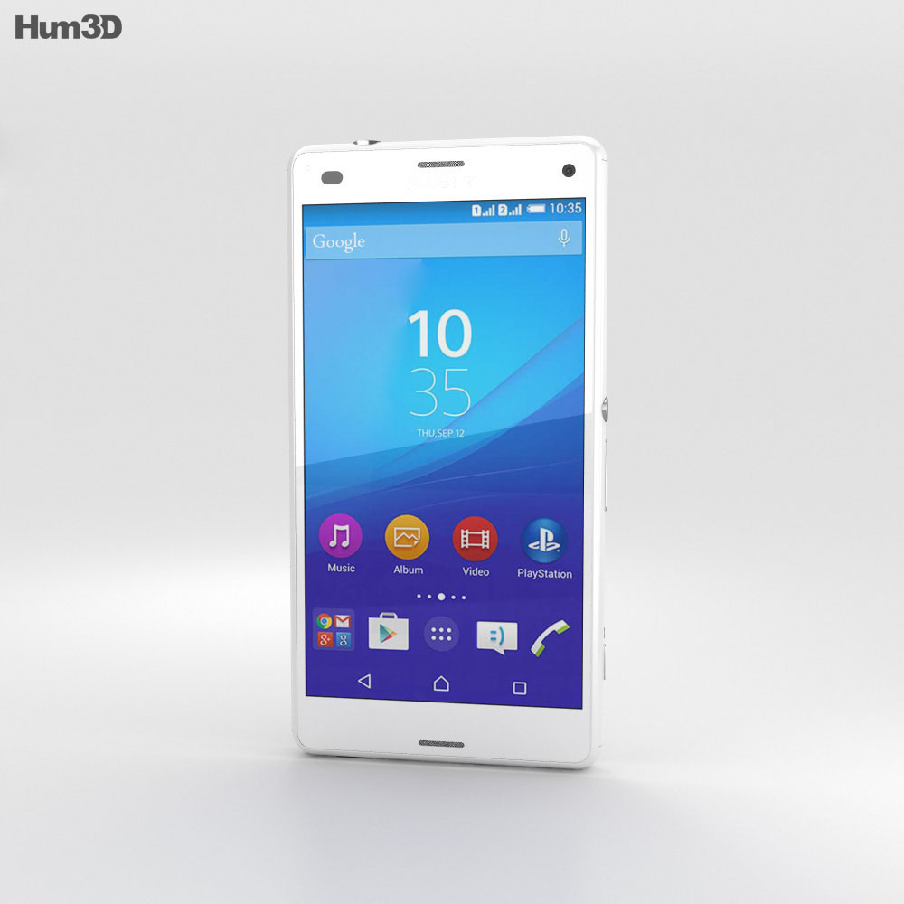 Sony Xperia A4 SO-04G White 3d model