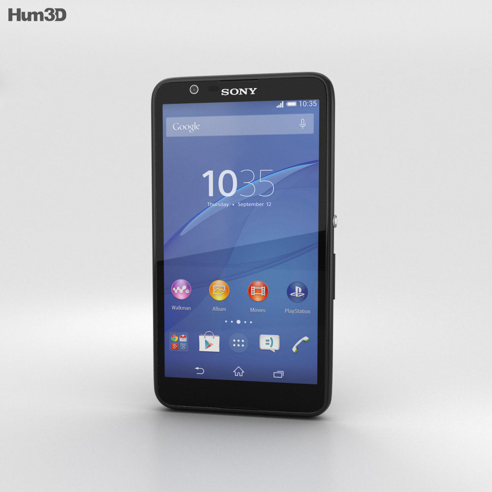 Sony Xperia E4 Black 3d model