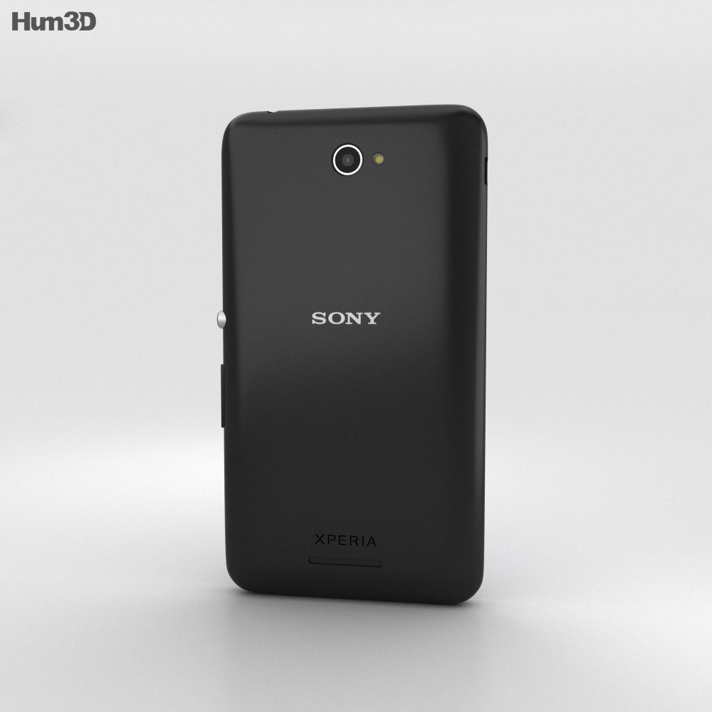 Sony Xperia E4 Black 3d model
