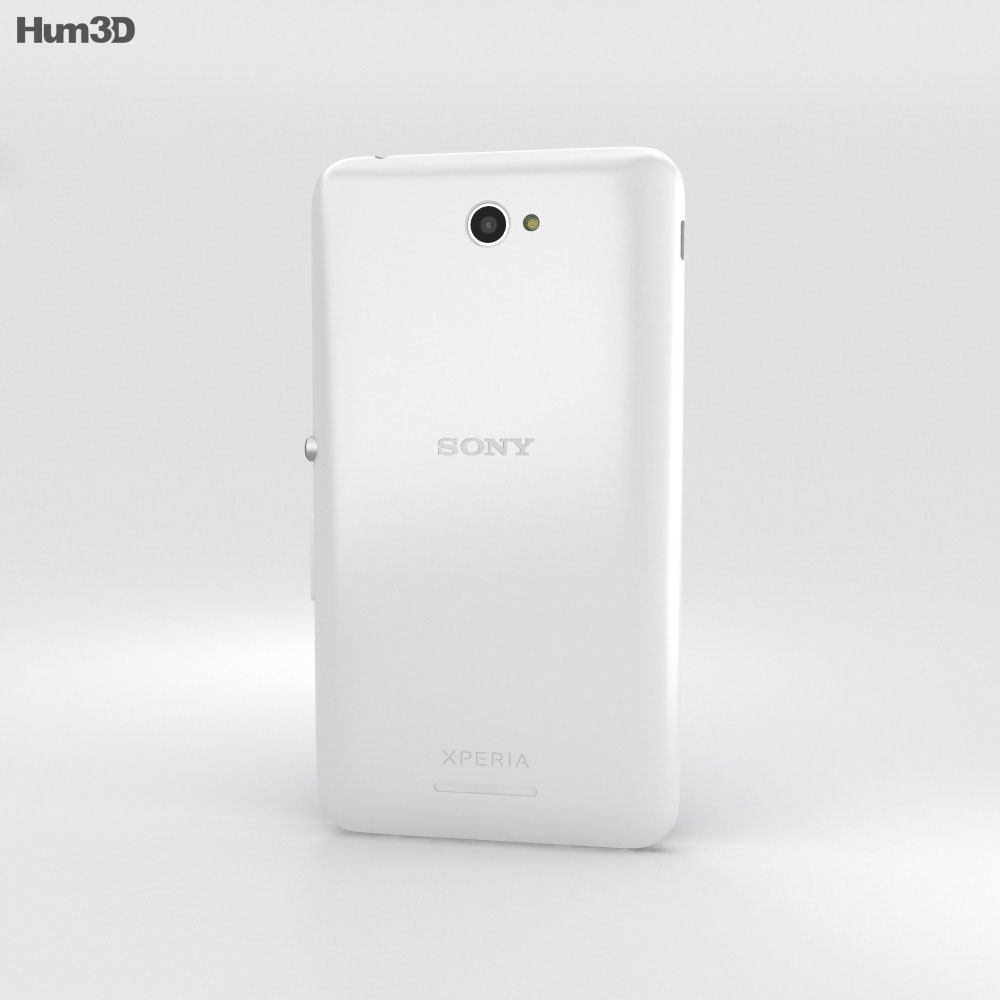 Sony Xperia E4 White 3d model