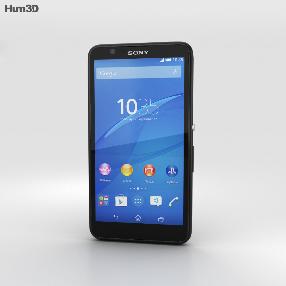 Sony Xperia E4g Black 3d model