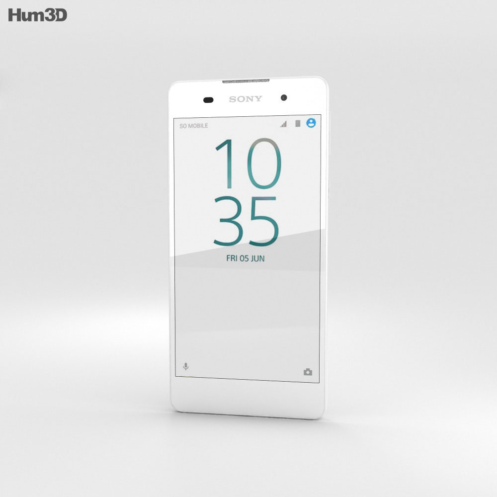 Sony Xperia E5 White 3d model