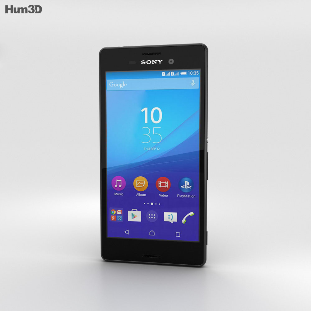 Sony Xperia M4 Aqua Black 3d model
