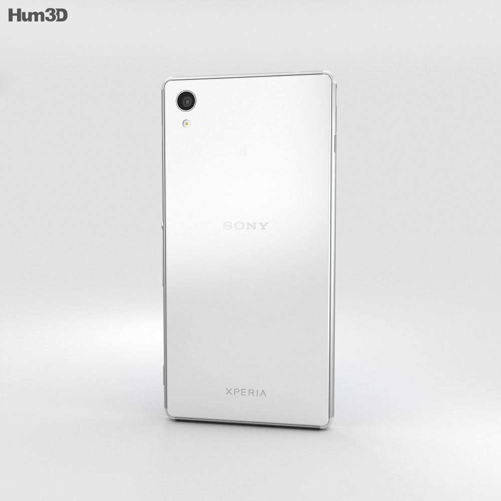 Sony Xperia M4 Aqua White 3d model