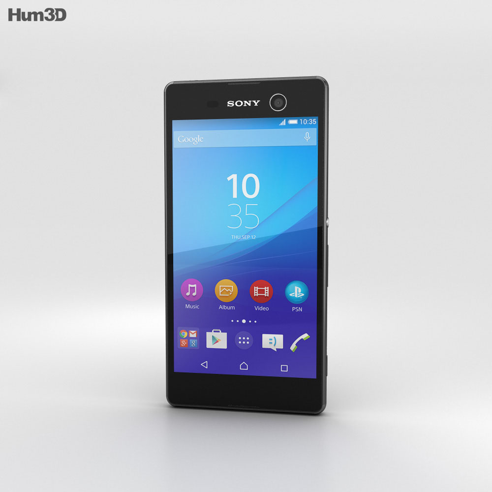 Sony Xperia M5 Black 3d model