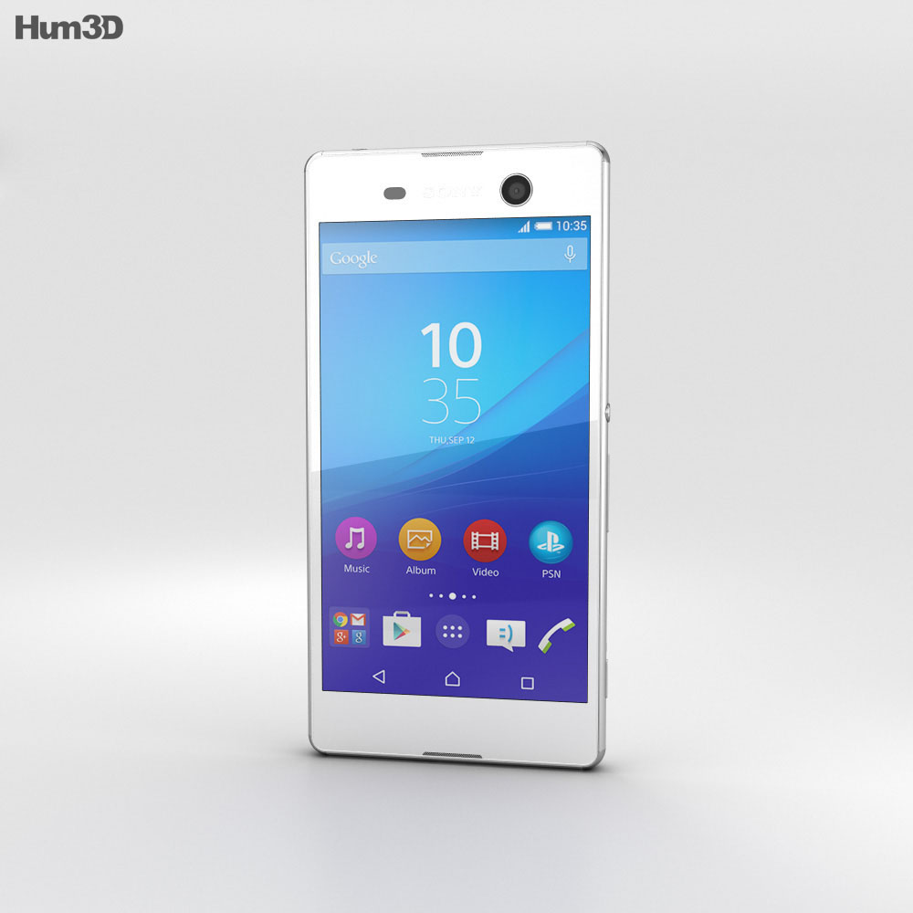 Sony Xperia M5 White 3d model