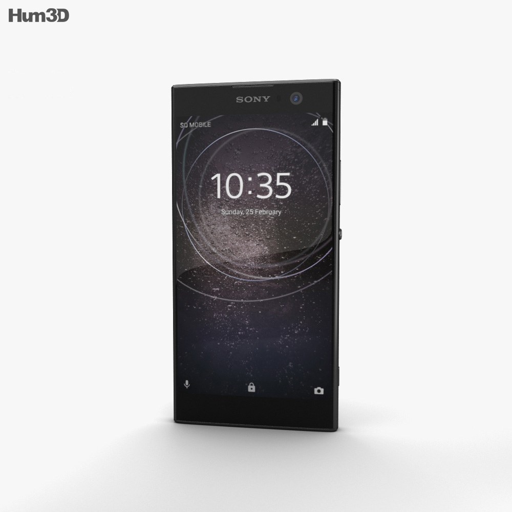 Sony Xperia XA2 Black 3d model