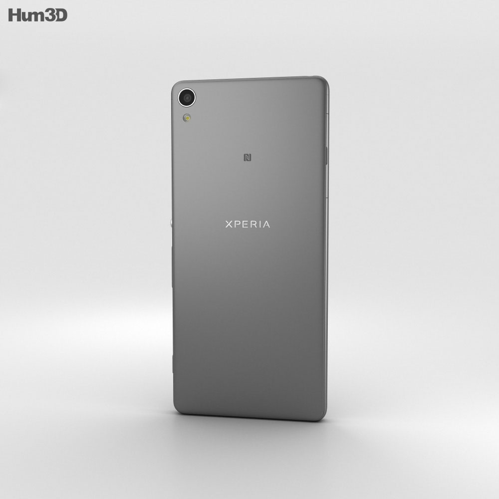 Sony Xperia XA Graphite Black 3d model