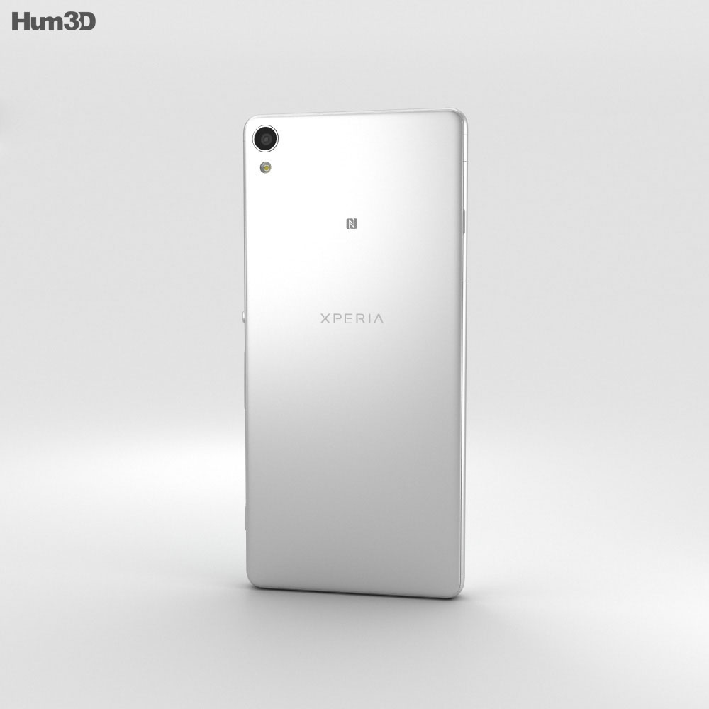 Sony Xperia XA White 3d model