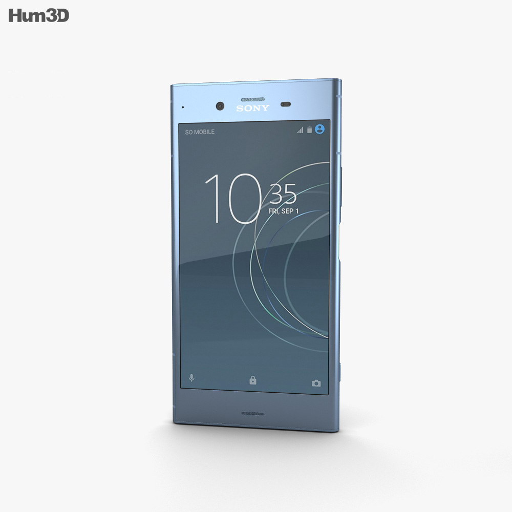 Sony Xperia XZ1 Moonlit Blue 3d model
