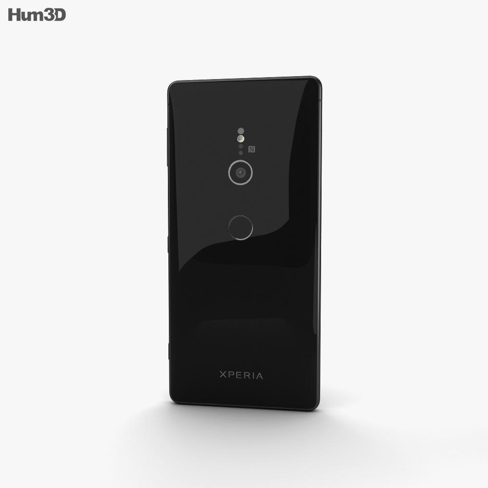 Sony Xperia XZ2 Liquid Black 3d model