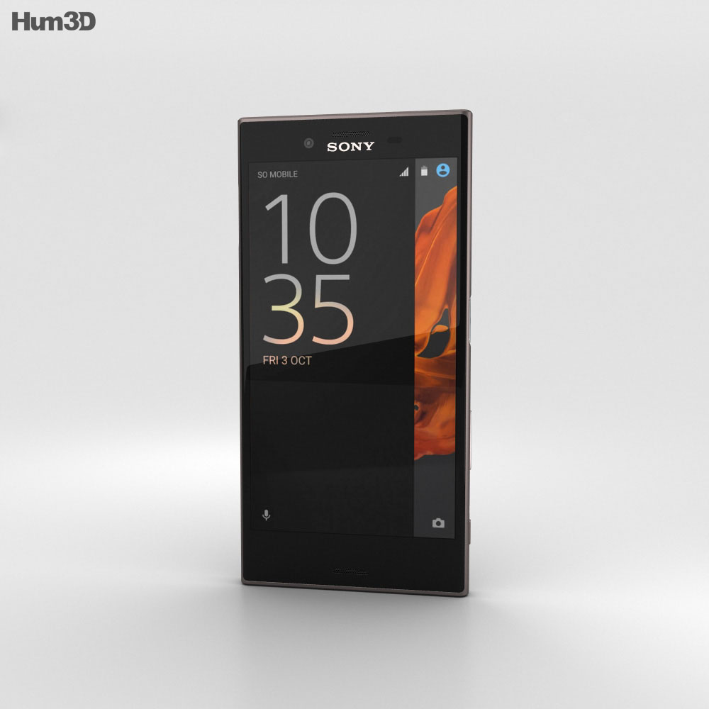 Sony Xperia XZ Mineral Black 3d model