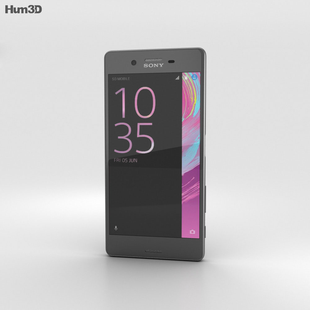 Sony Xperia X Graphite Black 3d model