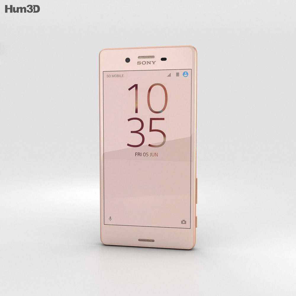 Sony Xperia X Performance Rose Gold 3d model