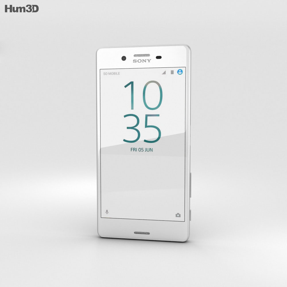 Sony Xperia X Performance White 3d model
