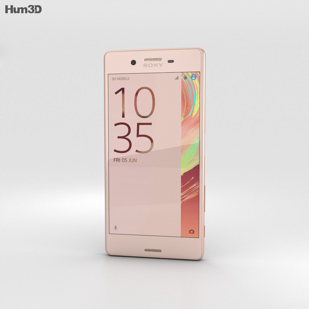 Sony Xperia X Rose Gold 3d model