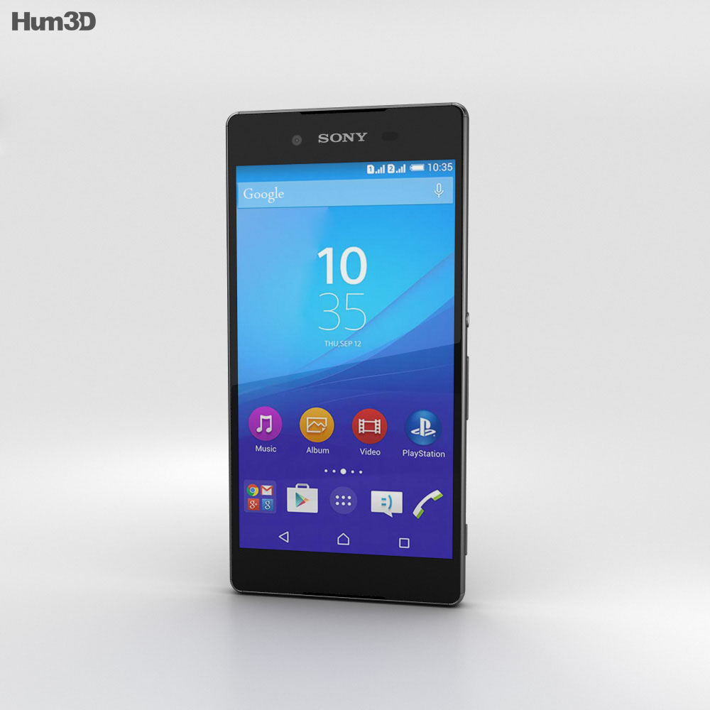 Sony Xperia Z4 Black 3d model