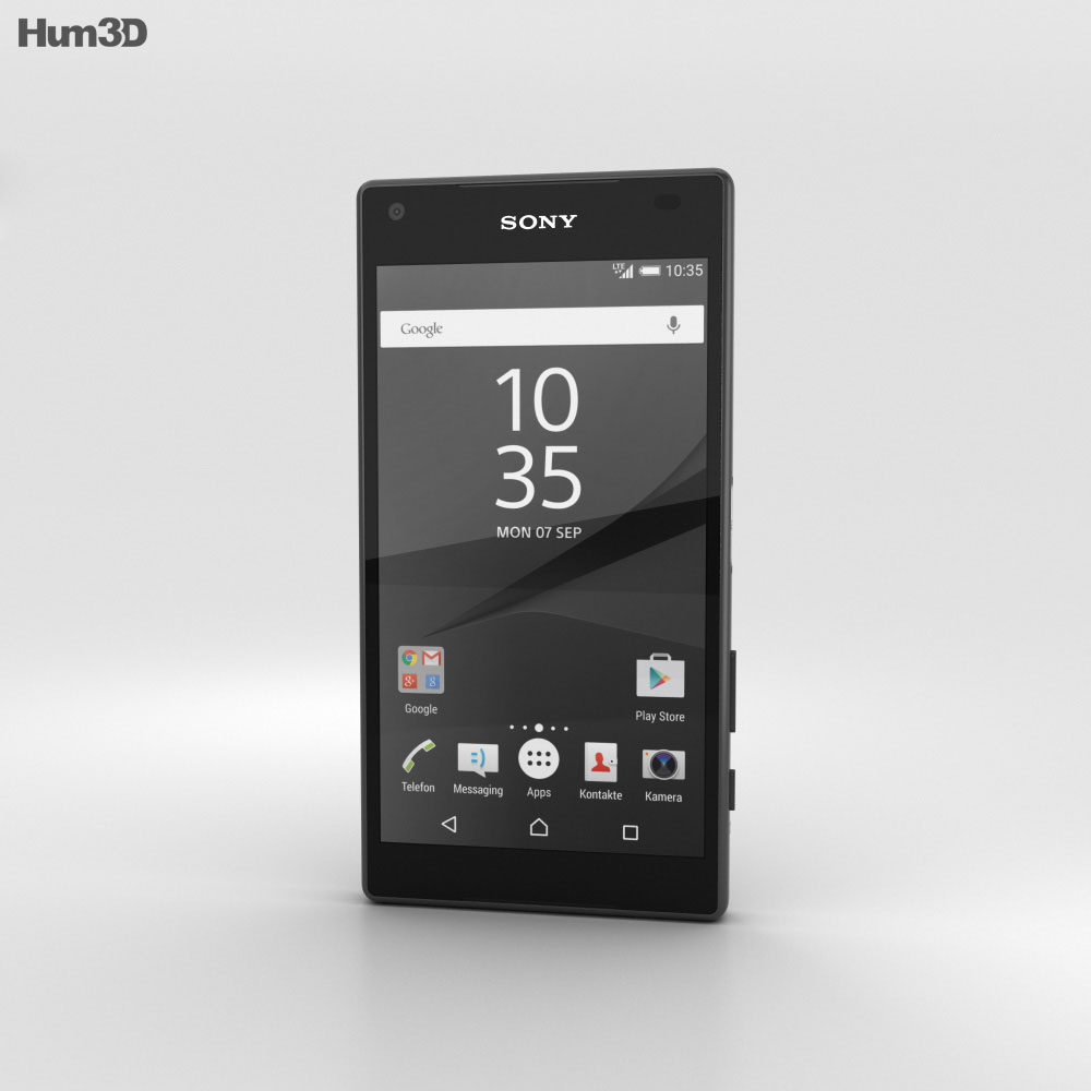 Sony Xperia Z5 Compact Graphite Black 3d model