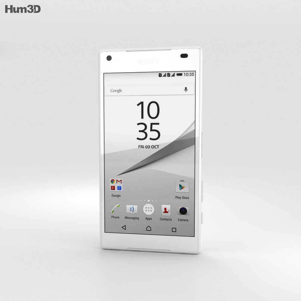 Sony Xperia Z5 Compact White 3d model