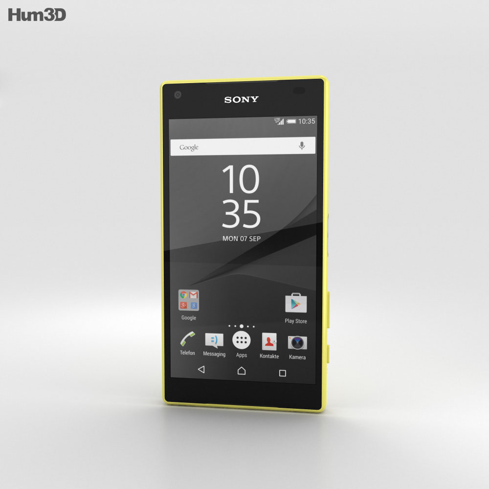 Sony Xperia Z5 Compact Yellow 3d model