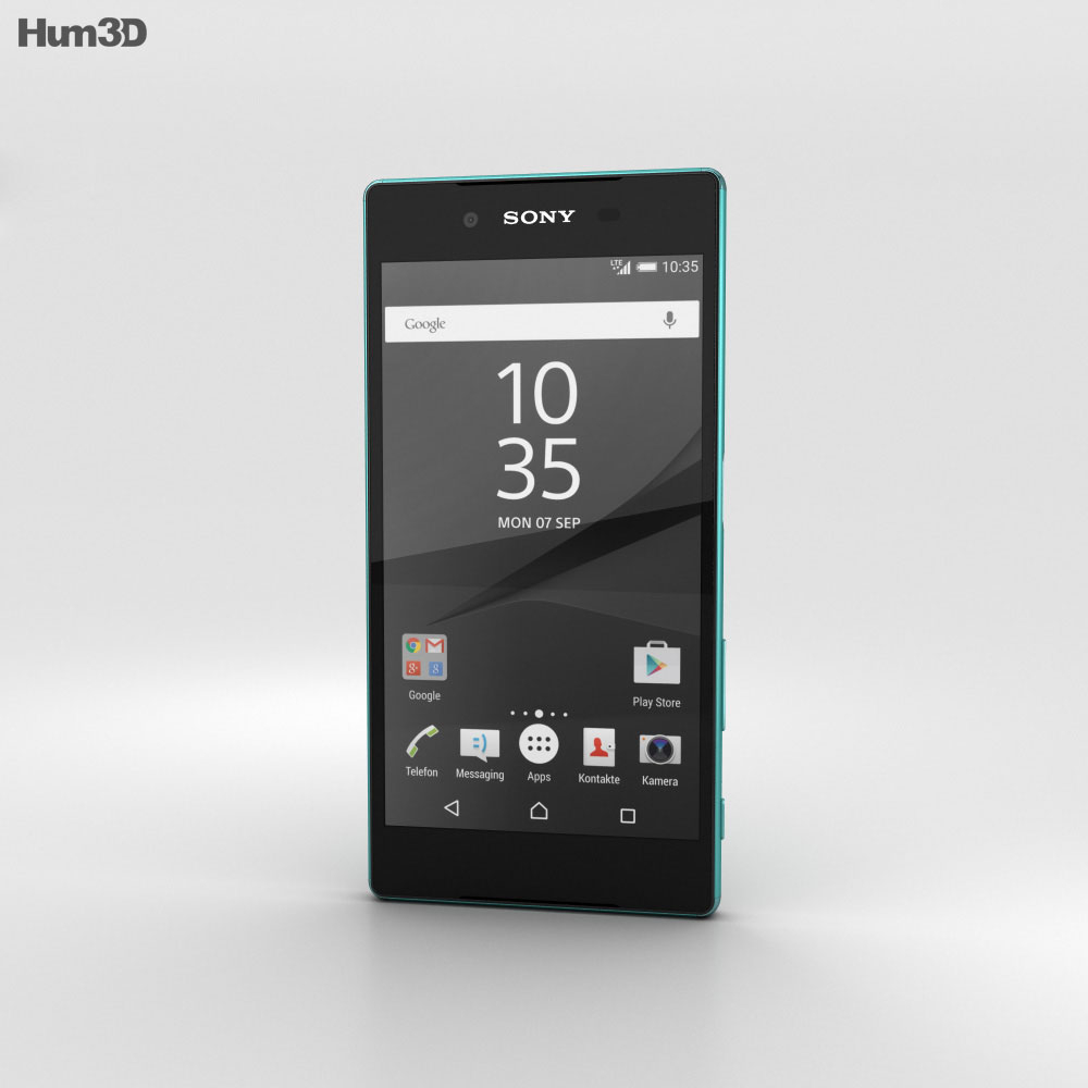 Sony Xperia Z5 Green 3d model