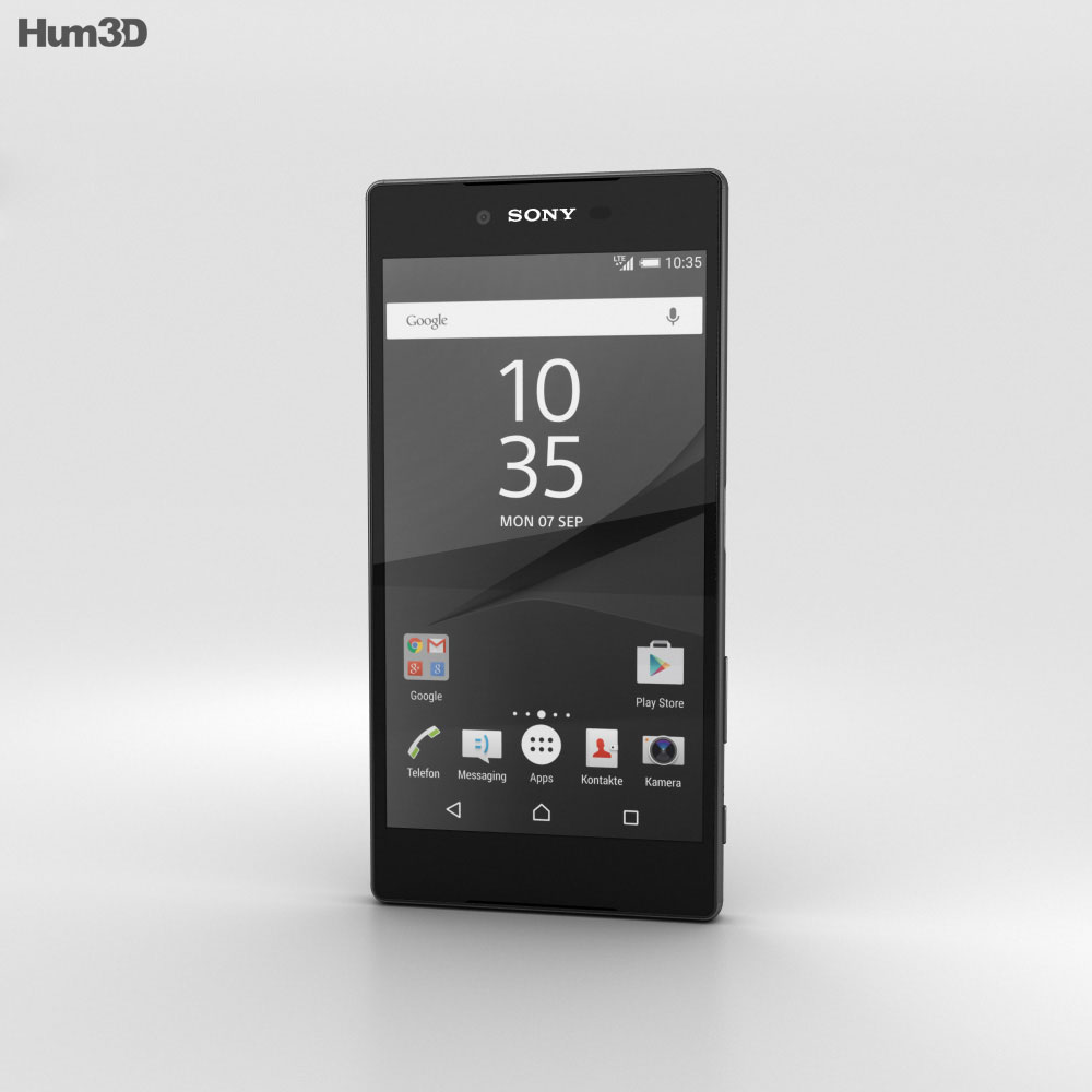 Sony Xperia Z5 Premium Black 3d model