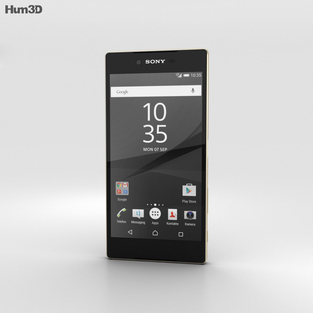 Sony Xperia Z5 Premium Gold 3d model