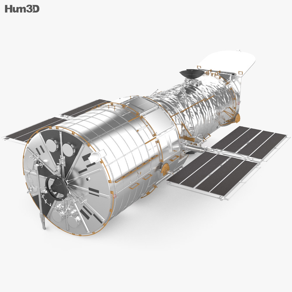 3D model of Hubble Space Telescope
