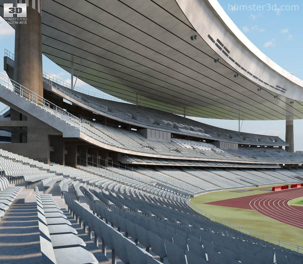 Ataturk Olympic Stadium 3d model