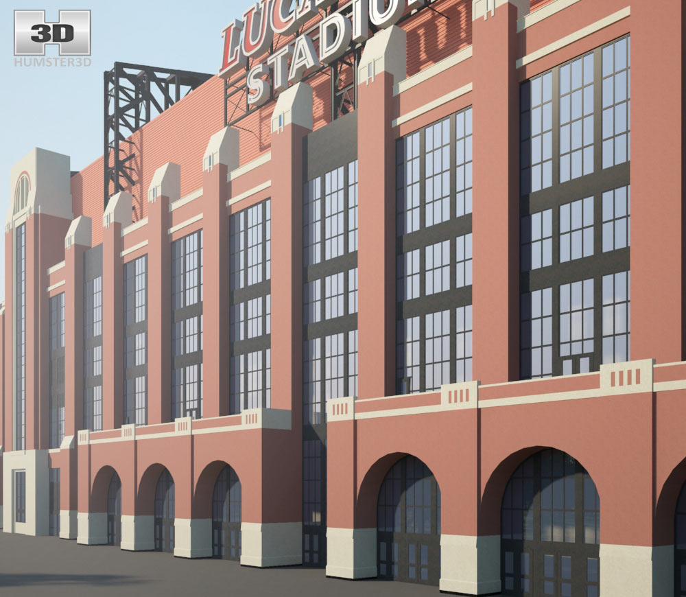 Lucas Oil Stadium 3d model
