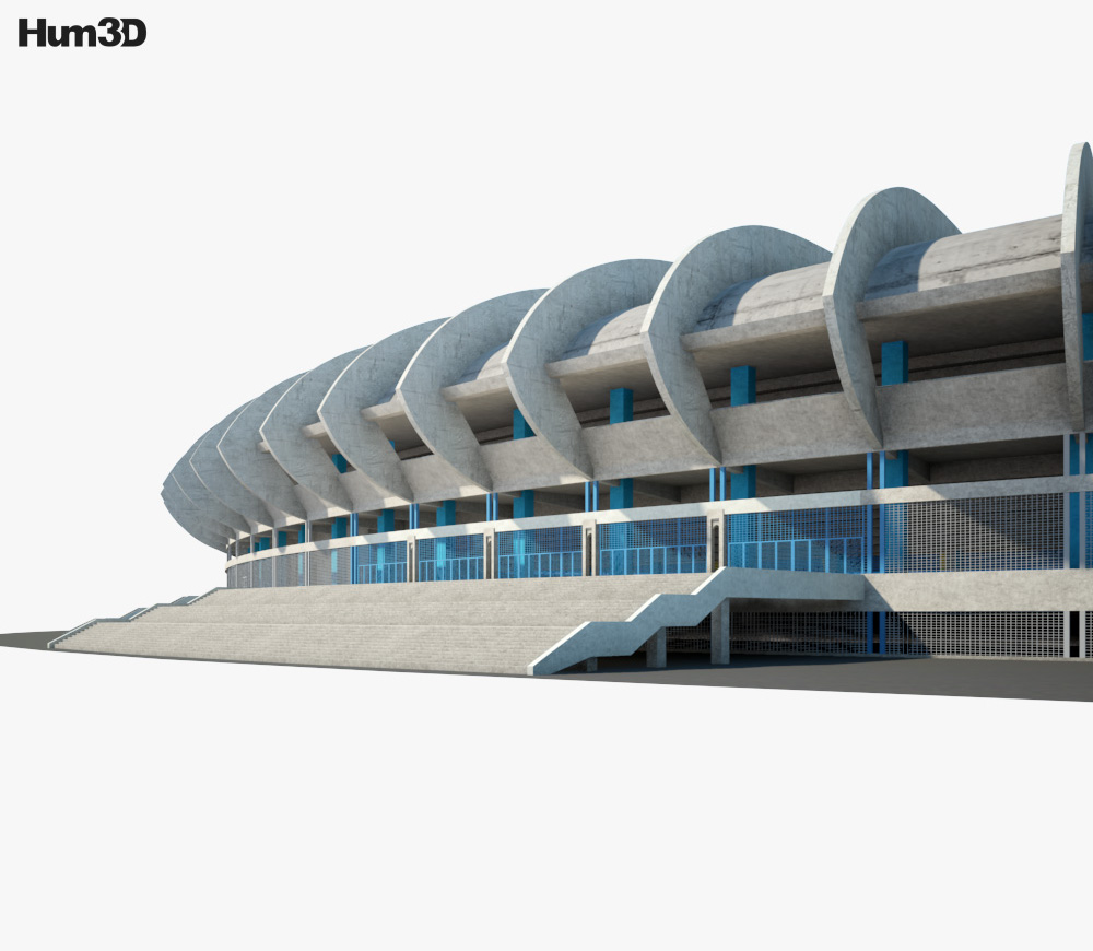Aleppo International Stadium 3d model