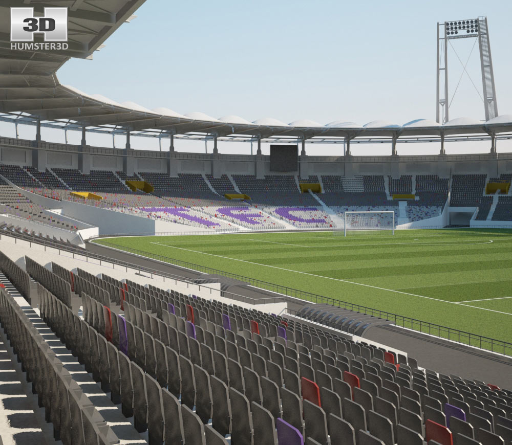 Stadium Municipal de Toulouse 3d model