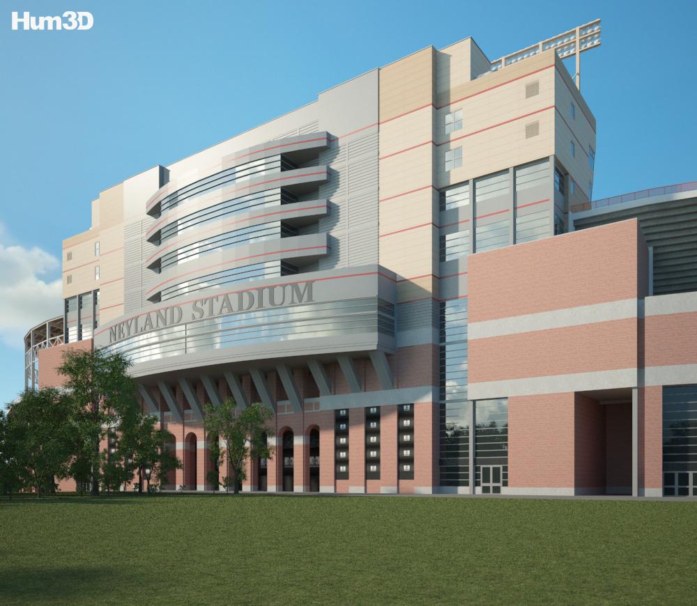 Neyland Stadium 3d model