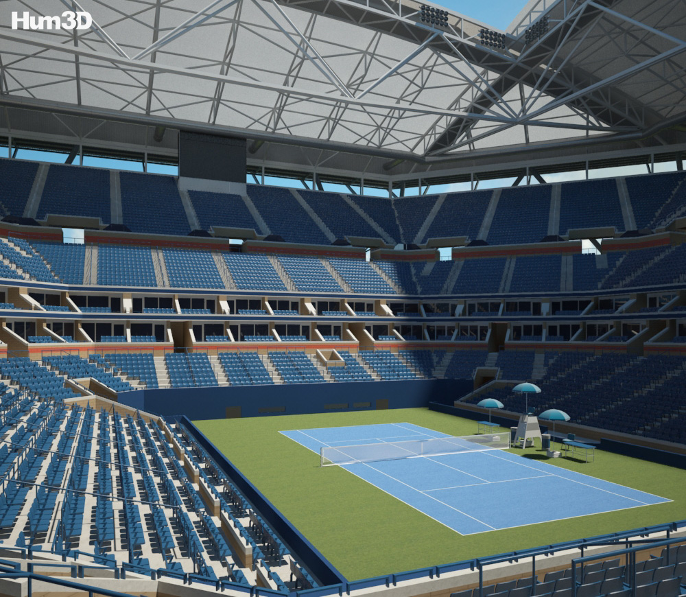 Arthur Ashe Stadium 3d model