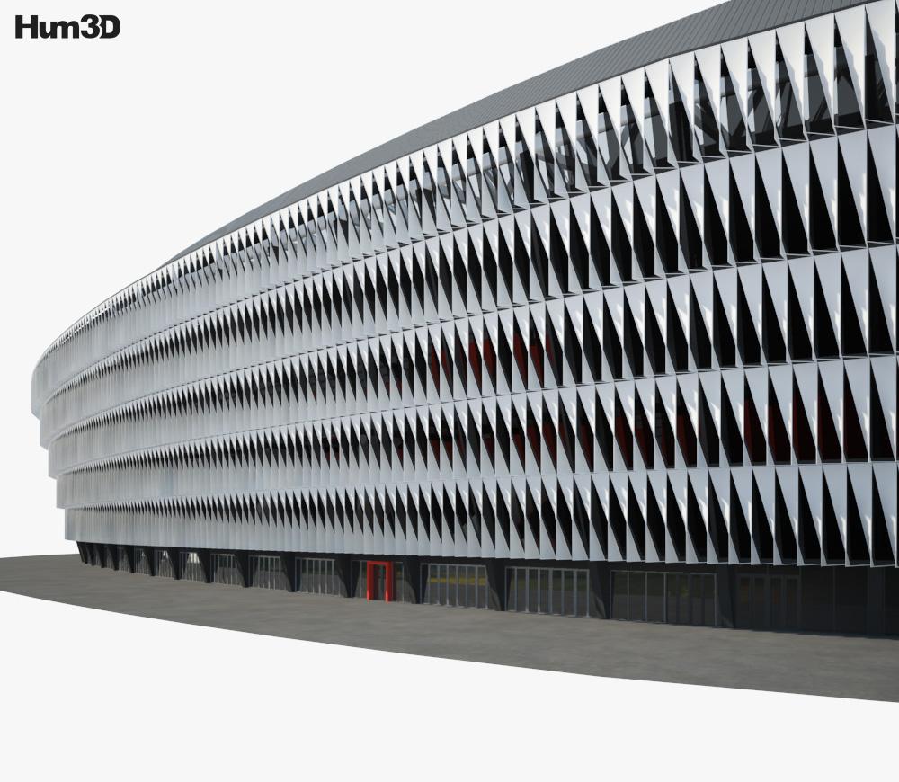 San Mames Stadium 3d model