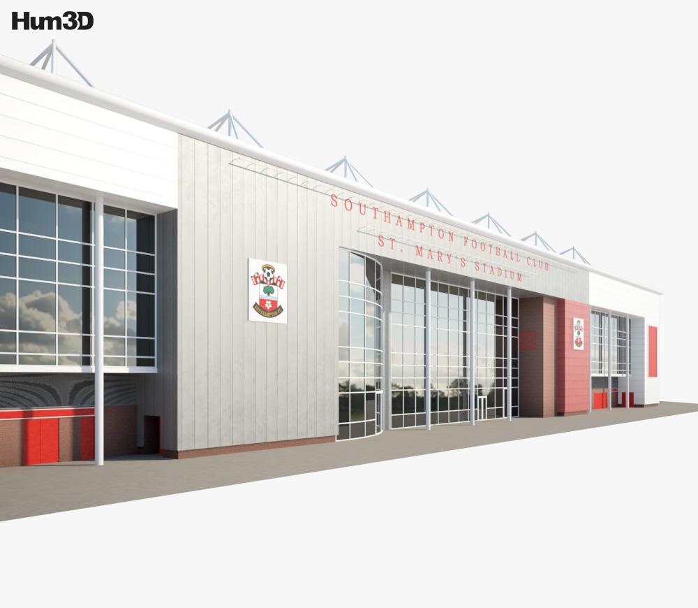 St Mary's Stadium 3d model