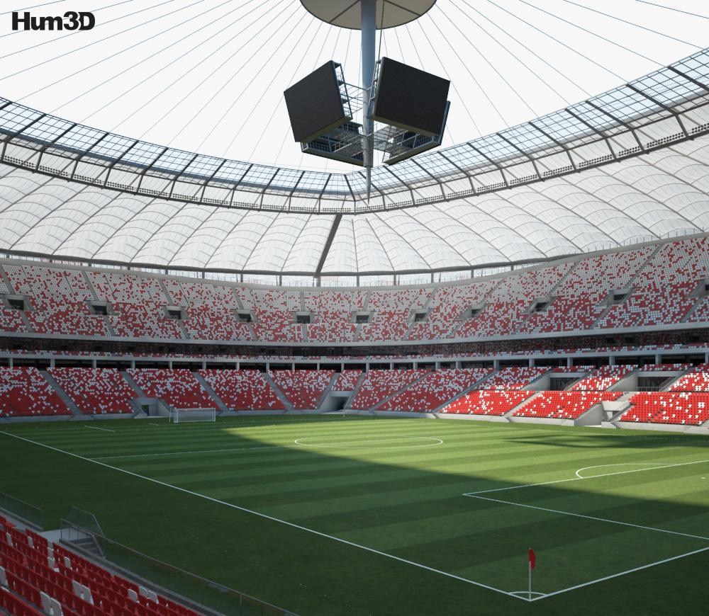 Warsaw National Stadium 3d model