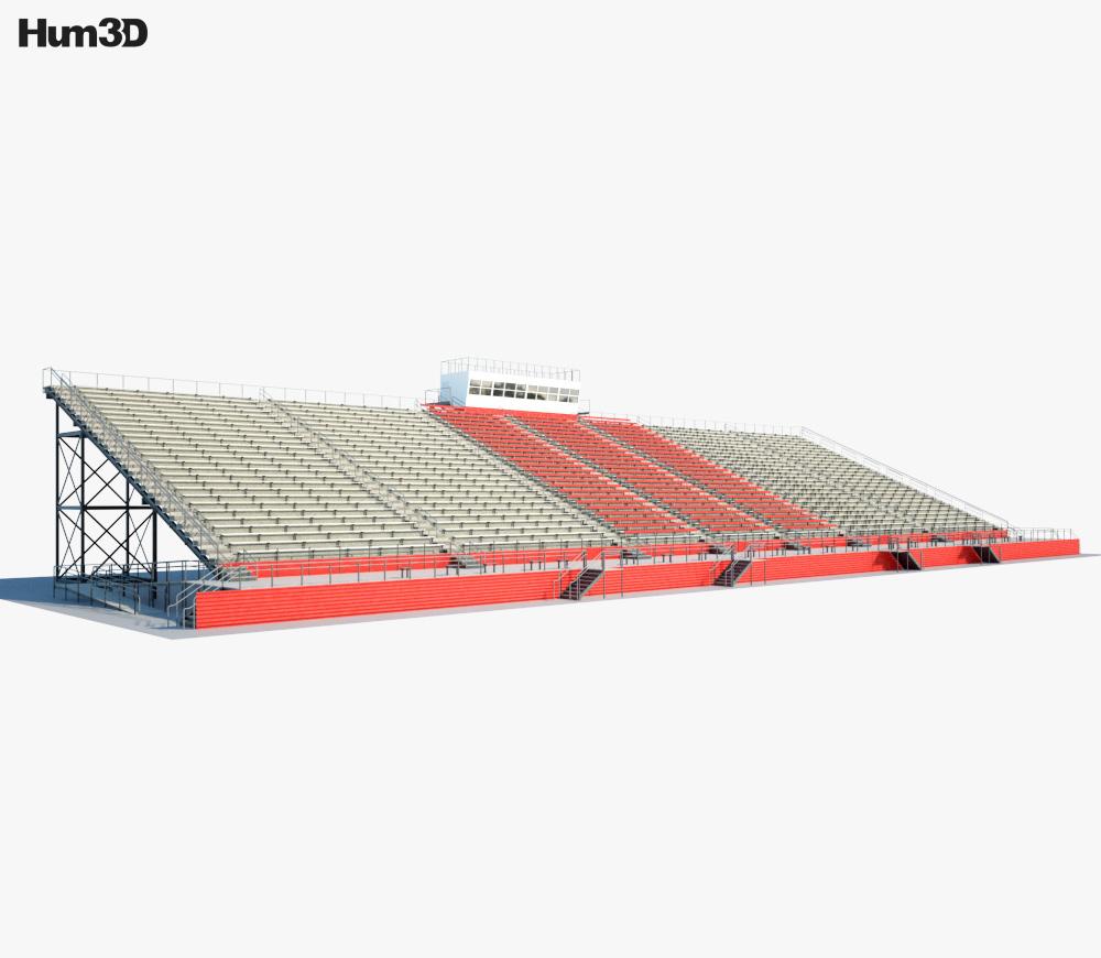 Clinton High tribune 3d model