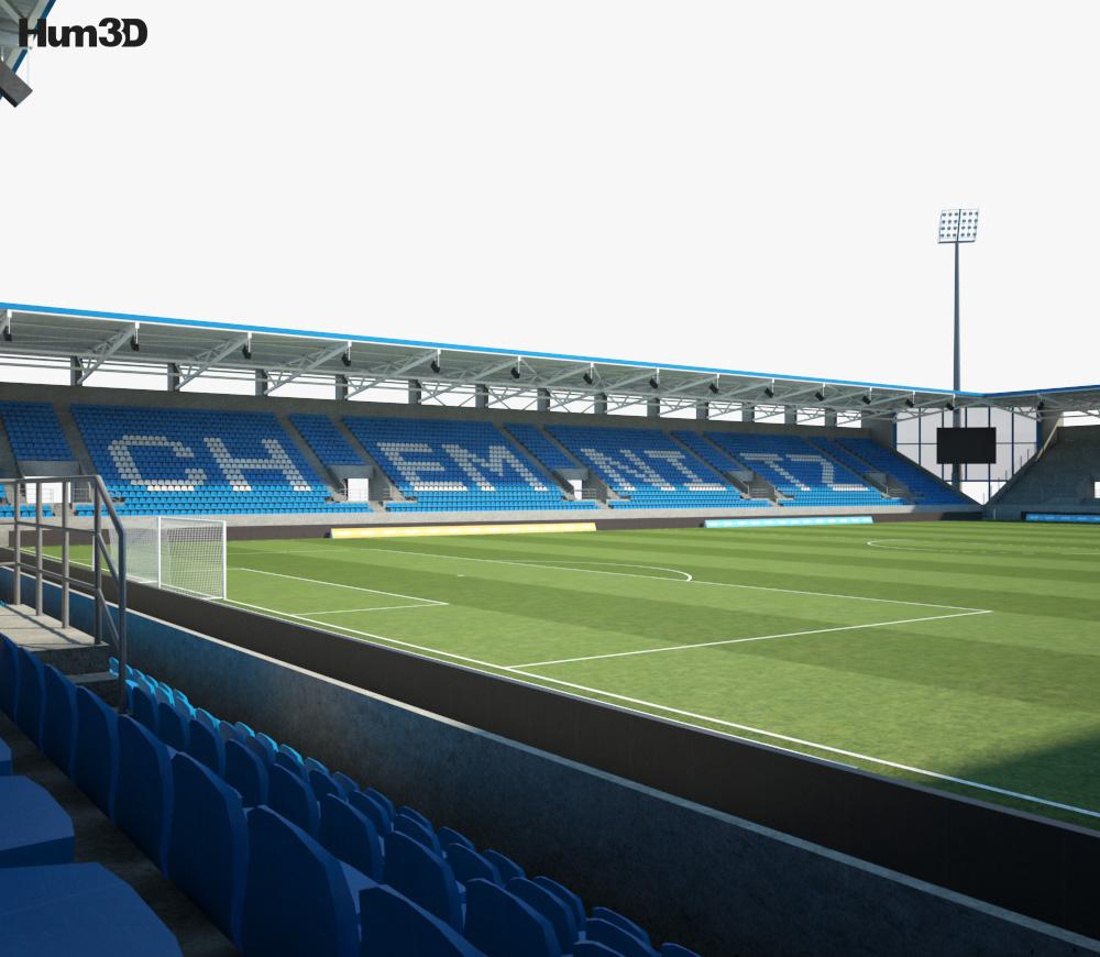 Stadion Chemnitz 3d model