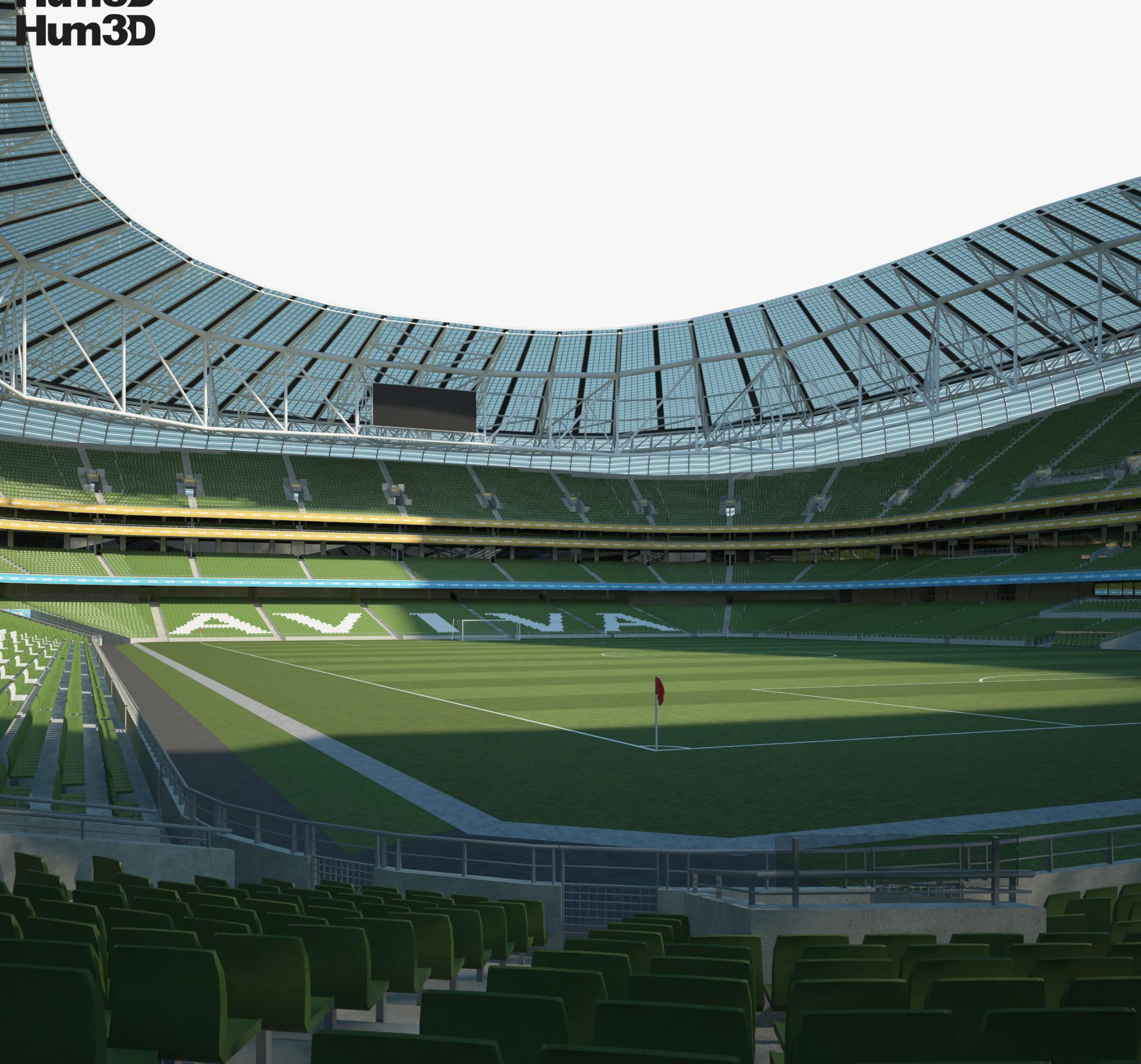 Aviva Stadium 3d model
