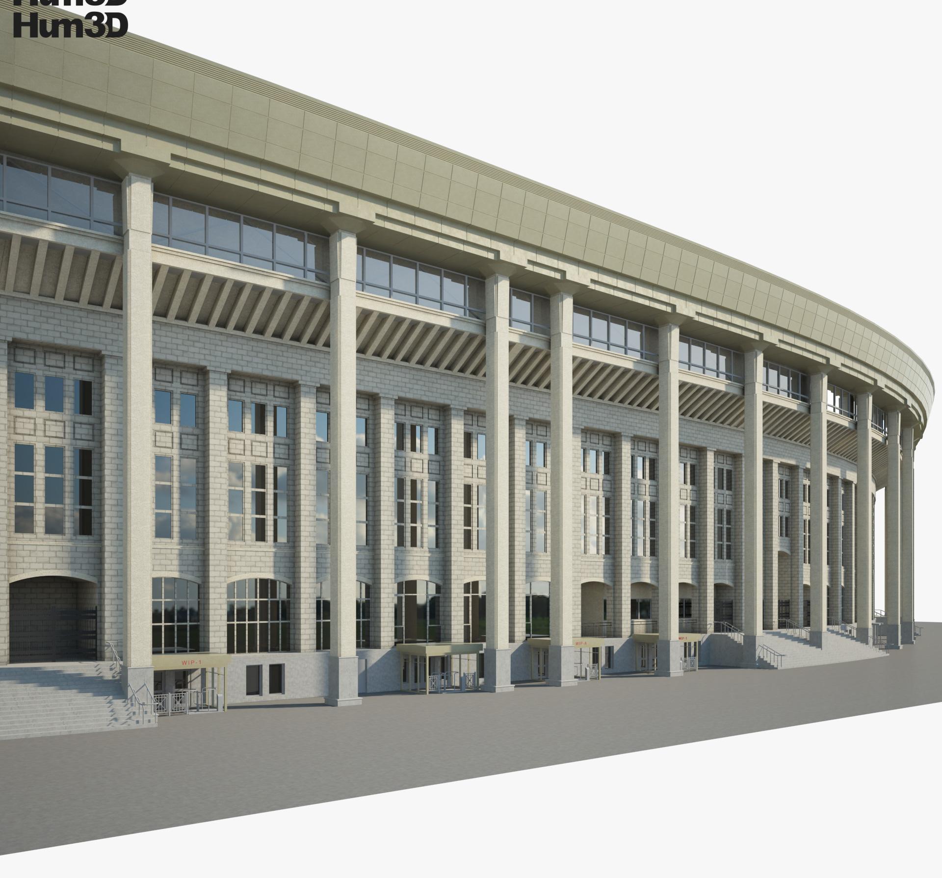 Luzhniki Stadium 3d model