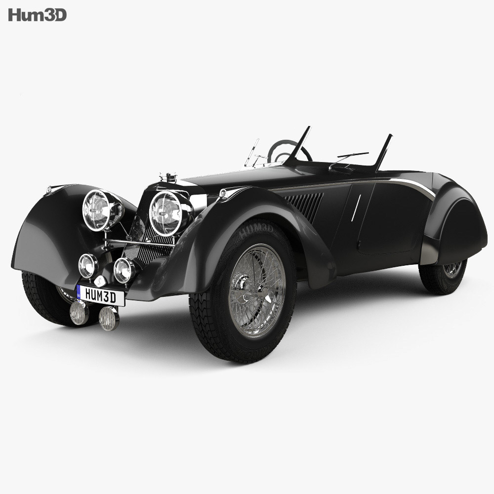 Squire Corsica Roadster 1936 3d model