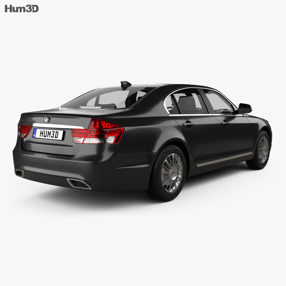 SsangYong Chairman W with HQ interior 2011 3d model back view