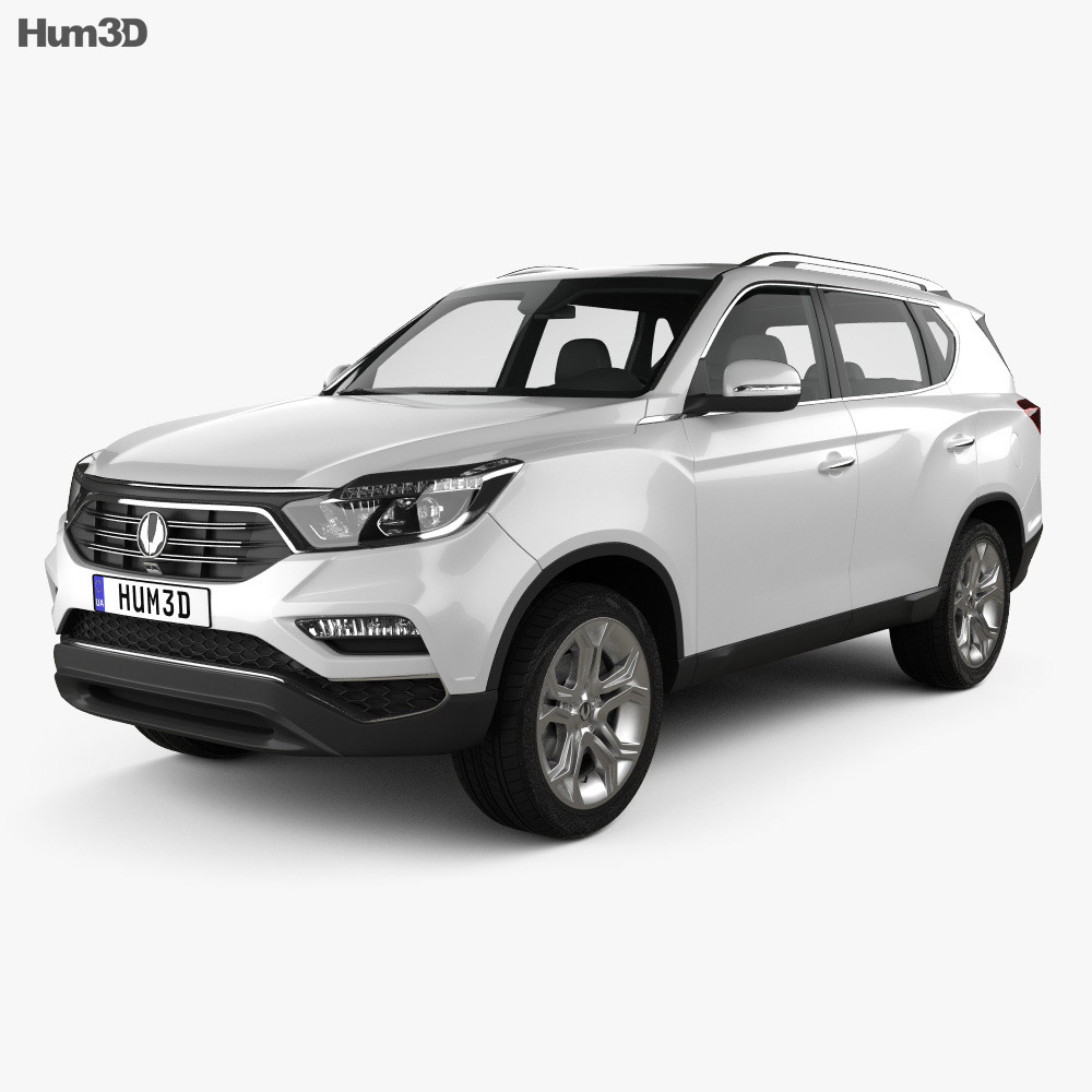 ssangyong rexton 2018 3d model hum3d. Black Bedroom Furniture Sets. Home Design Ideas
