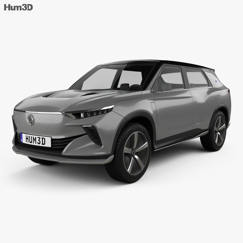 SsangYong e-SIV EV 2018 3d model