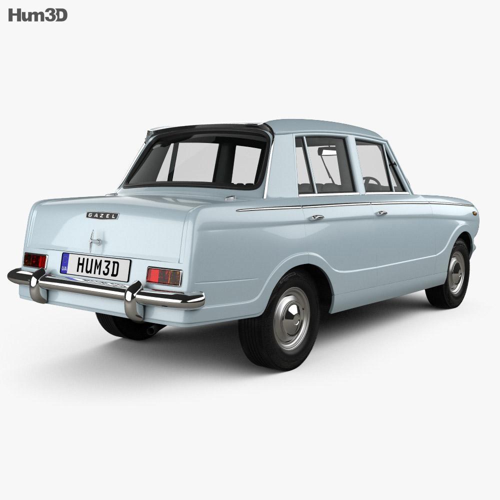 Standard Gazel 1971 3d model back view
