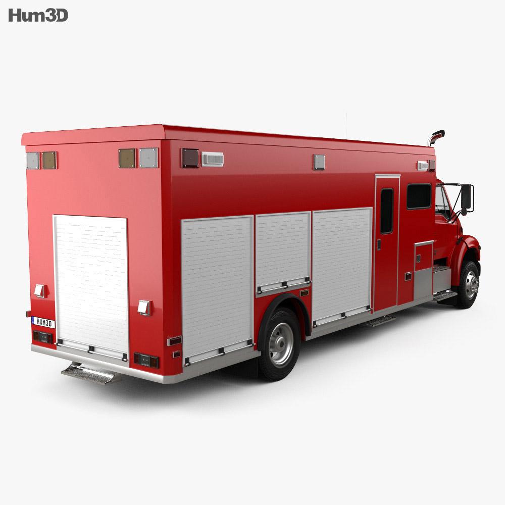 Sterling Acterra Fire Truck 2002 3d model back view