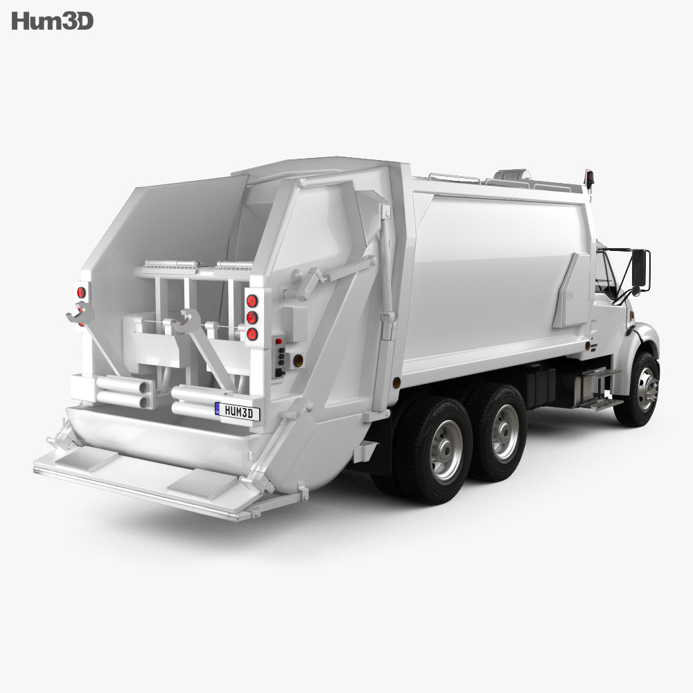 Sterling Acterra Garbage Truck 2002 3d model