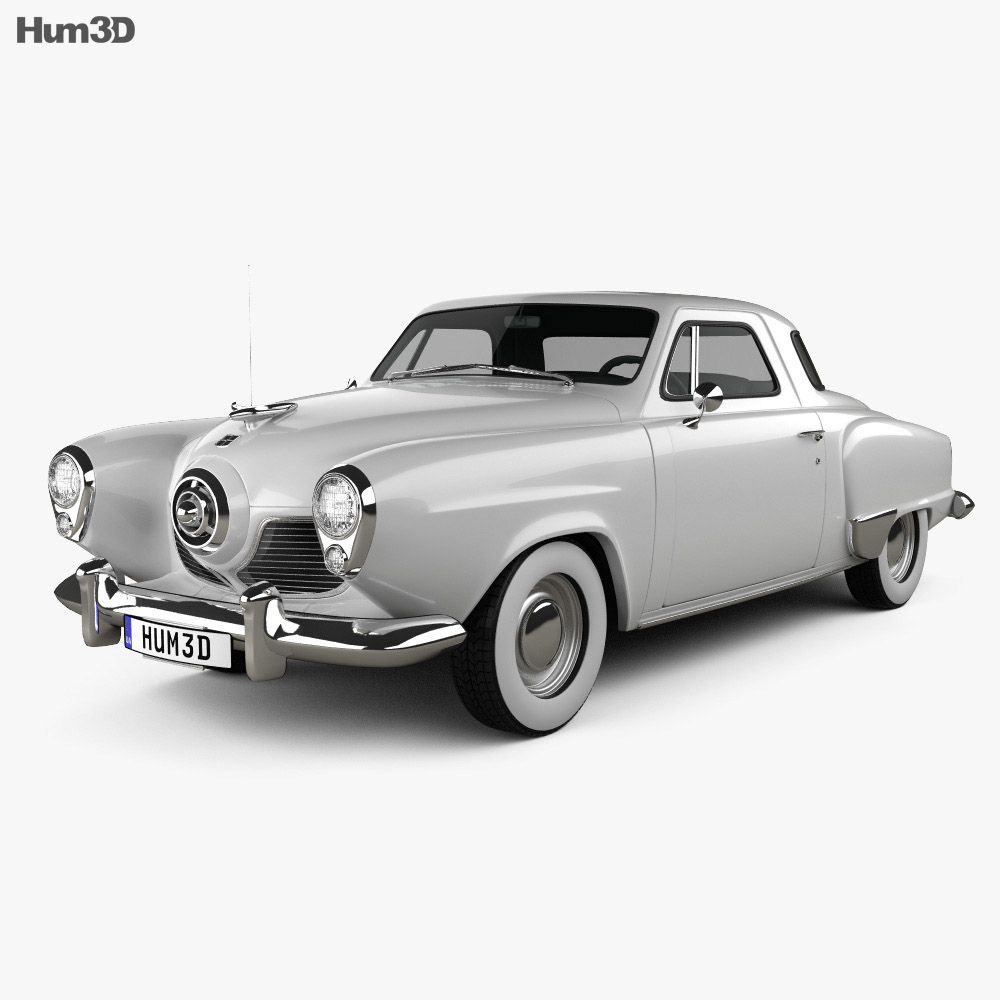 Studebaker Champion (Commander) hardtop 1951 3d model